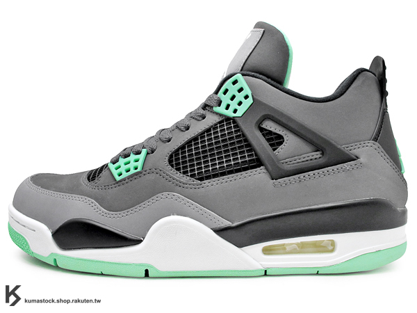FLIGHT 2013 復刻上市 限量發售 NIKE AIR JORDAN 4 IV RETRO GREEN GLOW 灰綠 夜光綠 AJ (308497-033) !