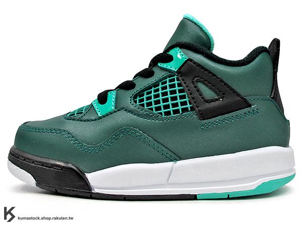 海外入荷 台灣未發售 2015 NIKE JORDAN 4 IV RETRO BT TD 30TH TEAL 幼童鞋 BABY 鞋 湖水綠 AJ 四代 皮革 AIR (308500-330) !
