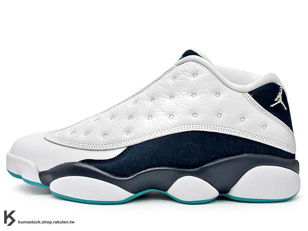 2015 經典再復刻 全新配色 NIKE AIR JORDAN 13 XIII RETRO LOW HORNETS 男鞋 低筒 白深藍水藍 黃蜂 AJ 十三代 (310810-107) !