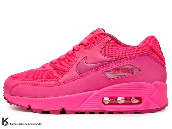 少量入荷 2014 NSW 經典復刻 慢跑鞋款 糖果 甜心 女孩專用 NIKE AIR MAX 90 2007 GS BG 大童鞋 女鞋 桃紅 螢光桃紅 粉紅 網布鞋面 (345017-601) !