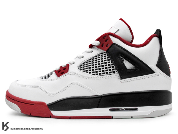 最終入荷 FLIGHT 2012 再度復刻上市 OG 原版配色 季後賽配色 女生尺寸 NIKE AIR JORDAN 4 IV RETRO GS 大童鞋 白紅黑 白黑紅 MARS 公牛隊 AJ 爆裂紋 (408452-110) !