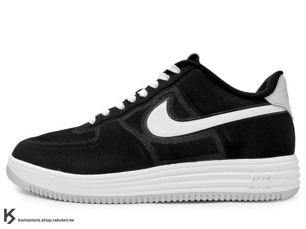 限量發售 2013 30周年 記念鞋款 太空科技 結合 經典鞋款 MEDICOM TOY x NIKE LUNAR FORCE 1 FUSE NRG BE@RBRICK XXX 黑白 HYPERSFUSE 鞋面科技 ZOOM AIR 小熊 (573980-003) !