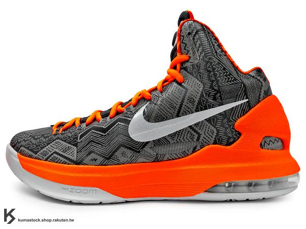 2013年 NBA 得分王 最新代言鞋款 BHM 黑人 紀念鞋款 NIKE NIKE KD V 5 BHM BLACK HISTORY MONTH 灰橘 彩繪 馬丁路德·金恩 (583107-001) !
