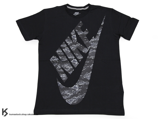 日本直送入荷 現貨 2013 秋冬最新 日本新宿 sports lab by atmos x NIKE AIR MAX BLACK TIGER CAMO PACK HBR SS LOGO TEE 黑底 黑虎紋迷彩 字體 短T T-SHIRT AM 90 (624100-010) !
