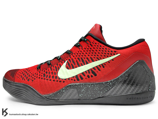 2014 NBA 湖人球星 最新代言鞋款 FLYKNIT 飛織科技搭載 NIKE KOBE 9 IX ELITE LOW UNIVERSITY RED BLACK 低筒 男鞋 全紅 紅黑 夜光勾 紅蛇 九代 Kobe Bryant 籃球鞋 限量發售 (653456-601) !