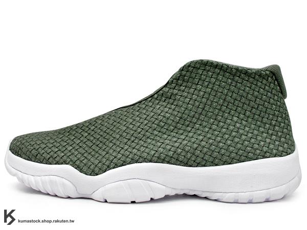 2014 台灣未發售 經典 HYBRID 改良 休閒鞋式樣 NIKE AIR JORDAN FUTURE IRON GREEN WHITE 男鞋 深綠 墨綠 白中底 麻棉 編織 AJ XI 11 (656503-300) !
