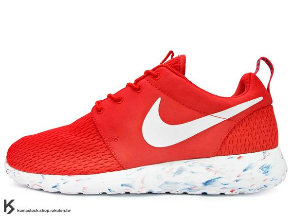 2014 NSW 平價走路休閒鞋 輕量舒適 NIKE ROSHERUN M MARBLE 紅 紅白 大理石紋路 透氣網布 PHYLON 中底 SOLARSOFT 襪套 (669985-600) !