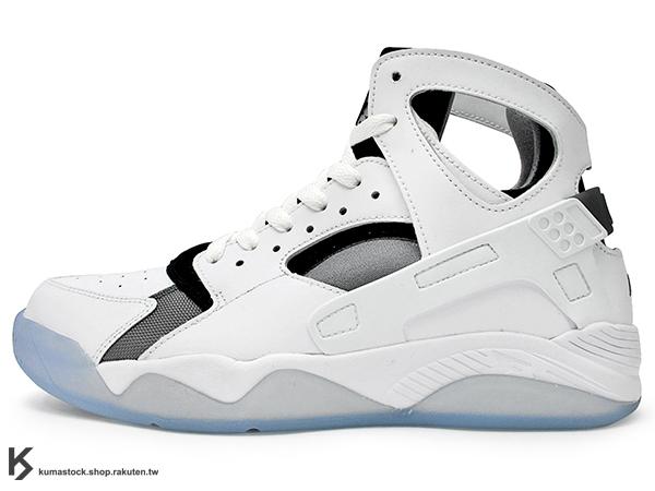 2015 重新復刻上市 台灣未發售 1993 經典籃球鞋款 NIKE AIR FLIGHT HUARACHE 白黑 透明底 籃球鞋 (705005-100) !
