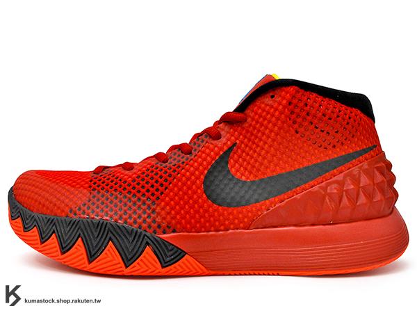 2015 NBA 新人王 Kyrie Irving 首款個人簽名代言籃球鞋 NIKE KYRIE 1 EP DECEPTIVE RED 紅 紅黑 限量販售 (705278-606) !