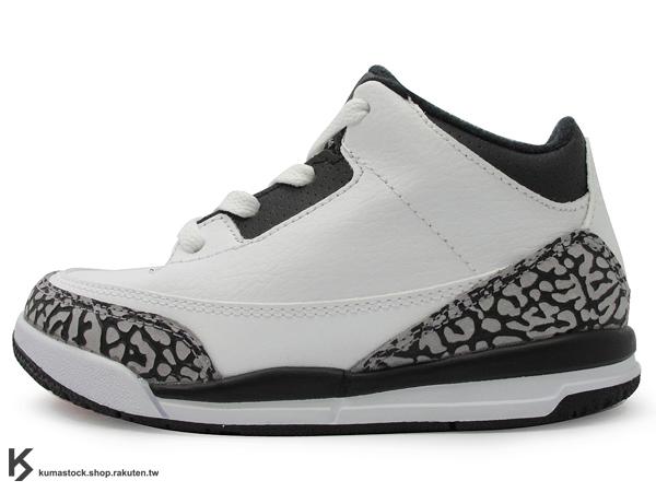 海外入荷 台灣未發售 2014 NIKE JORDAN 3 III RETRO TD BT INFRARED 23 幼童鞋 BABY 鞋 白黑紅 白黑 爆裂紋 AJ 三代 AIR (832033-123) !