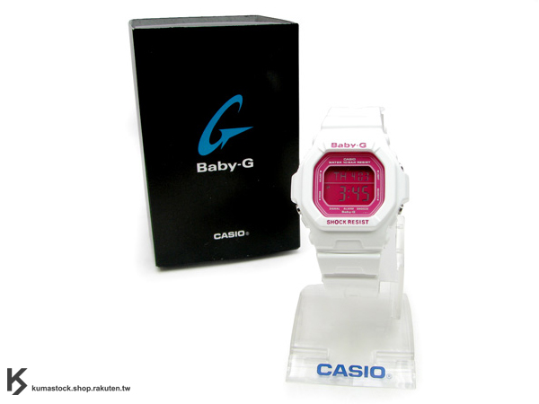 "Kumastock特別入荷 CASIO BABY G-SHOCK "" CANDY COLOR系列 "" Baby-G BG-5601 白"