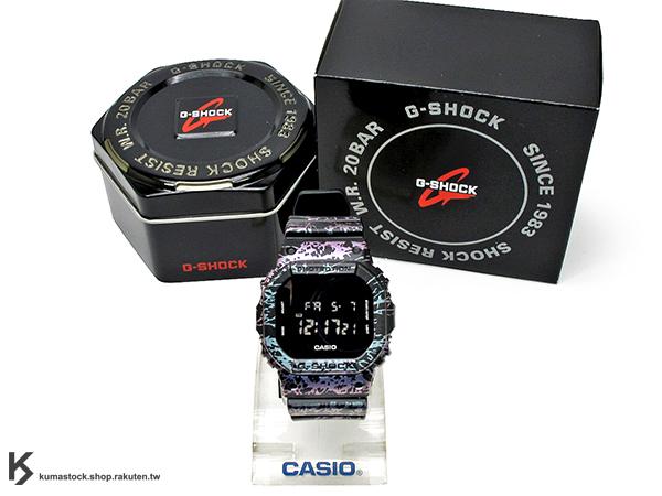 2015 限量登場 CASIO G-SHOCK DW-5600PM-1DR 30周年 大理石爆裂紋路 閃電 黑紫 DW-5600PM-1 !