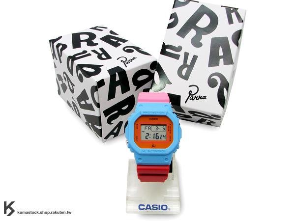 限量發售 荷蘭 阿姆斯特丹 插畫藝術家 Parra x CASIO G-SHOCK DW-5600PR-4DR 水藍 橘 紅 粉紅 IT'S TIME TO PARTY !