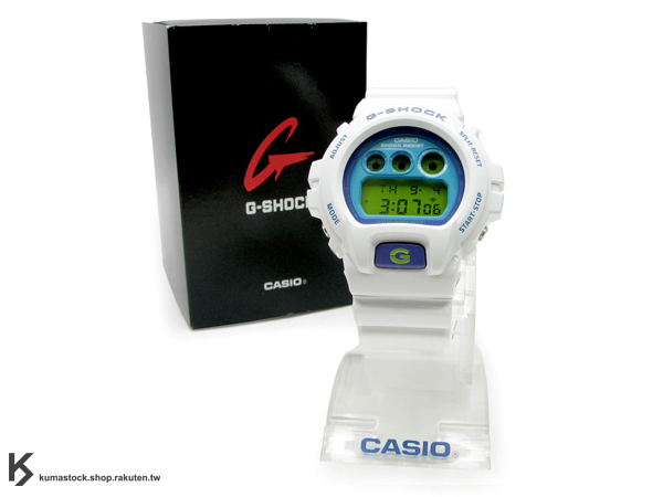 "Kumastock特別入荷 CASIO G-SHOCK "" Crazy Color系列 "" DW-6900CS-7 白藍"