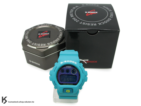 "kumastock 最速入荷 2011年 夏日 街頭帆布鞋風格 CASIO G-SHOCK NEW CRAZY COLOR 系列 DW-6900SN-3DR ""sneaker style"" 綠藍色 亮面+ 霧面 !"