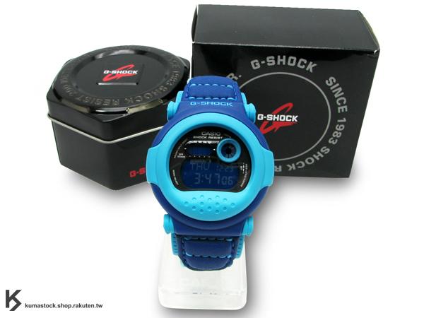 [20% OFF] Kumastock特別入荷 2010年經典復刻款 CASIO G-SHOCK JASON INTRO G-001B-2DR 藍天空藍 皮布錶帶 !