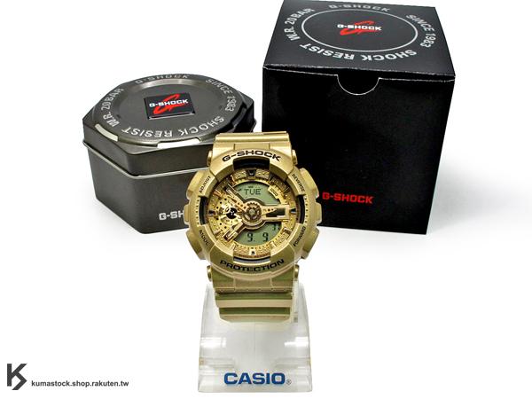 kumastock 2014 最新入荷 超大 55mm 錶徑 CRAZY GOLD 金色炫風來襲 CASIO G-SHOCK GA-110GD-9ADR 閃耀金 炫金系列 土豪金 !