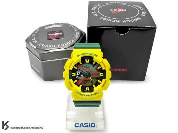 [10%OFF] 超高人氣 2012 秋冬新色 日本限定款 CASIO G-SHOCK GA-110RF-9ADR JAMAICA 黃綠紅 牙買加 獨立50周年 特製 霧面錶帶 !