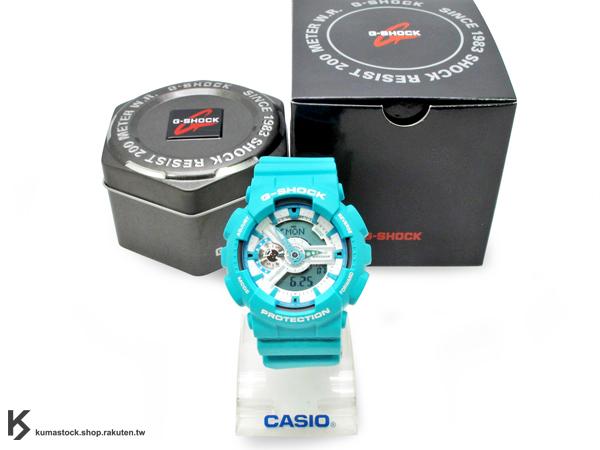 超高人氣 2012 春夏新色 日本限定款 CASIO G-SHOCK GA-110SN-3ADR 綠藍色 綠白 霧面 !