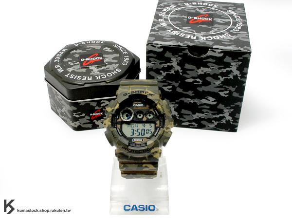kumastock 最新入荷 2014 30 周年限定機型 大錶徑 CASIO G-SHOCK G-SHOCK GD-120CM-5DR 軍綠色 沙漠 叢林 迷彩 系列 霧面錶帶 !