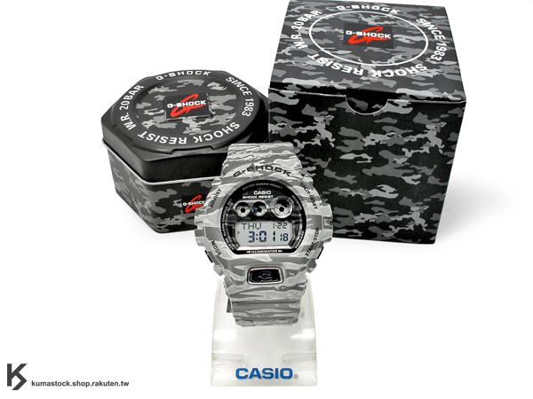 [10%OFF] kumastock 最新入荷 2014 30 周年限定機型 超大 53.9mm 錶徑 CASIO G-SHOCK GD-X6900TC-8DR TIGER CAMO 灰色 虎紋 迷彩 系列 透明液晶面板 霧面錶帶 !