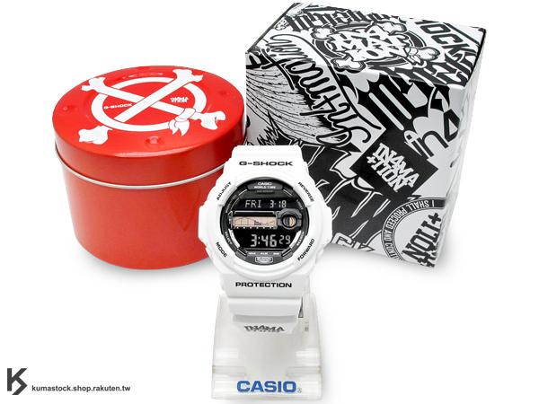 限量聯名款 美國夏威夷知名街頭潮牌 IN4MATION x CASIO G-SHOCK G-LIDE GLX-150X-7DR 全白 白黑 衝浪錶款 潮汐 夏威夷風 !