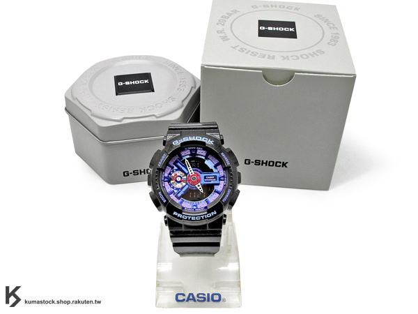 kumastock 2014 最新入荷 46mm 錶徑 貼合女性手腕曲線 CASIO G-SHOCK GMA-S110HC-1ADR 珍珠黑 黑紫 金屬光澤 METALLIC COLOR S SERIES FOR LADIES 女孩專用 !