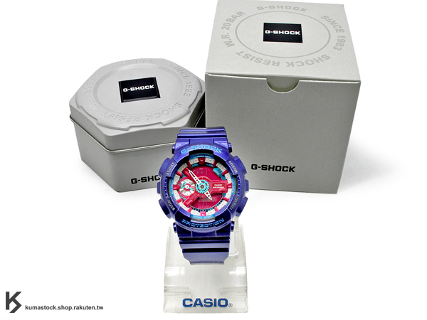 kumastock 2014 最新入荷 46mm 錶徑 貼合女性手腕曲線 CASIO G-SHOCK GMA-S110HC-2ADR 寶藍 藍紫 金屬光澤 METALLIC COLOR S SERIES FOR LADIES 女孩專用 !