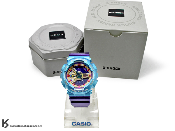 kumastock 2014 最新入荷 46mm 錶徑 貼合女性手腕曲線 CASIO G-SHOCK GMA-S110HC-6ADR 水藍紫 金屬光澤 METALLIC COLOR S SERIES FOR LADIES 女孩專用 !