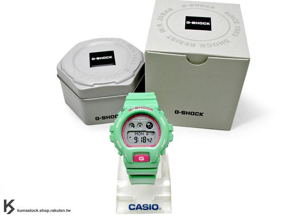 kumastock 2014 最新入荷 46mm 錶徑 貼合女性手腕曲線 CASIO G-SHOCK GMD-S6900CC-3ADR 粉綠 嫩綠 CRAZY COLOR 系列 女孩專用 !