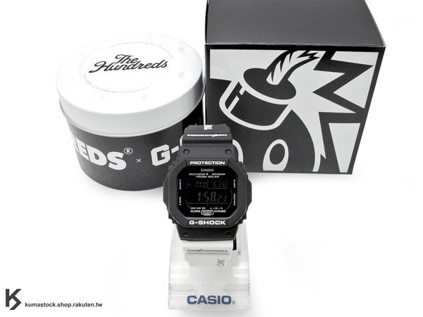 限量發售 美國 洛杉磯 街頭炸彈 THE HUNDREDS x CASIO G-SHOCK GW-M5610TH-1 黑白 太陽能電力手錶 聯名合作 限量款 !