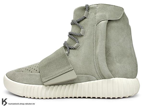 2015 限量發售 嘻哈歌手 Kanye West 設計 adidas YEEZY 750 BOOST 高筒 麂皮 灰色 黏扣帶 (B35309) !