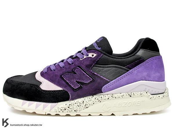 2013 限量發售 少量入荷 澳洲球鞋雜誌 SNEAKER FREAKER x NEW BALANCE CM998 SNF TASSIE DEVIL 10 周年紀念 黑紫 麂皮 慢跑鞋 袋獾 (CM998SNF) !