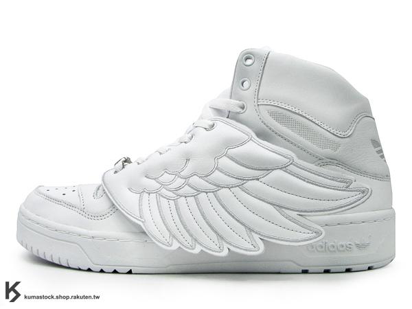 2011 海外直送 詢問度極高 絕版再入荷 adidas x Jeremy Scott JS WINGS 紐約 全白 白 翅膀 翅膀鞋 天使之翼 (G04654) !