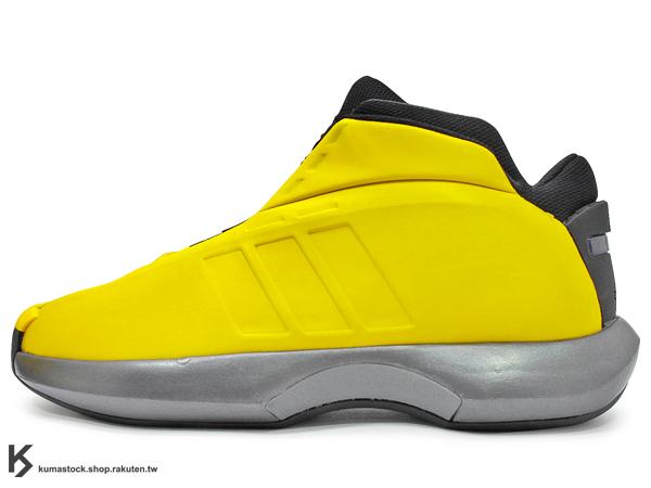 2013 超經典復刻 2001 Kobe Bryant 經典戰靴 ADIDAS CRAZY 1 黃色 黃黑銀 洛杉磯 湖人 灌籃大賽 計程車 (G98371) !