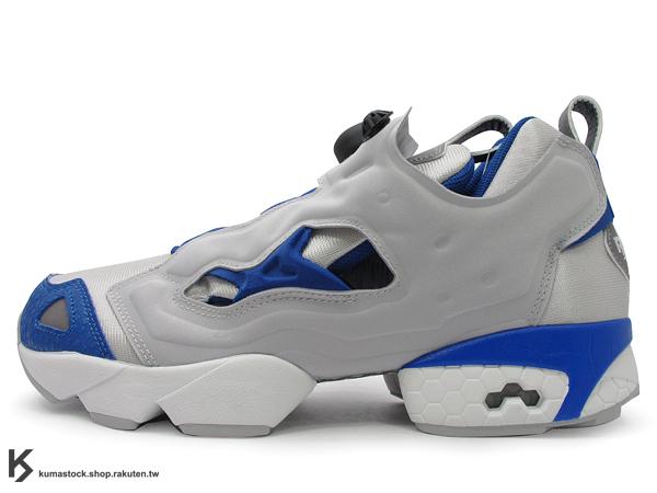 2013 原版設計再現 20周年紀念 Reebok INSTA PUMP FURY 灰藍 深藍 1993 原版中底設計 (J98378) !