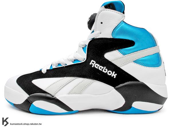 2013 經典重新再現 1992 Shaquille O'Neal 簽名球鞋 REEBOK SHAQ ATTAQ 一代 白藍黑 白藍 PUMP 鞋舌充氣 碳纖維 魔術隊 32 (V47915) !