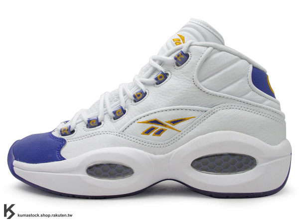 [35% OFF] 再入荷 2013 經典重新再現 美國紐約鞋舖 PACKER SHOES x REEBOK QUESTION MID FOR PLAYER ONLY LAKERS 湖人 白紫黃 8 蜂巢式氣墊 Allen Iverson 代言鞋款 I3 1996 艾佛森 第一款簽名球鞋 KOBE BRYANT PE (V53581) !