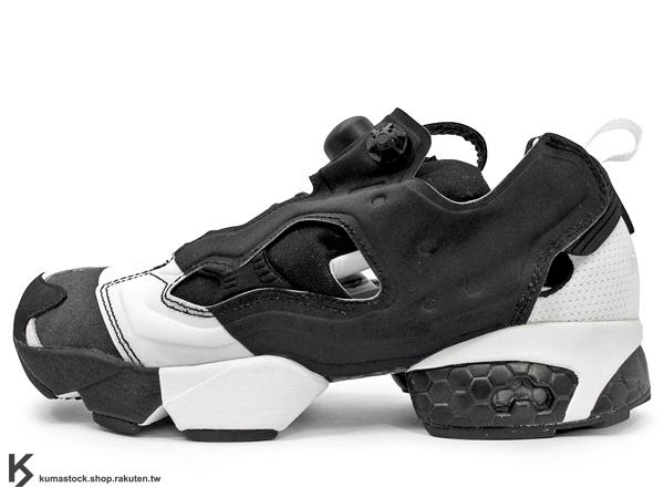 女生尺寸 2014 原版設計再現 20周年紀念 限量發售 西班牙 巴塞隆納 知名鞋舖 24 KILATES x Reebok INSTA PUMP FURY OG 黑白 條紋 帆布 1994 原版配色 重新復刻 原版中底設計 JUMPER 跳先生 (V61213) !
