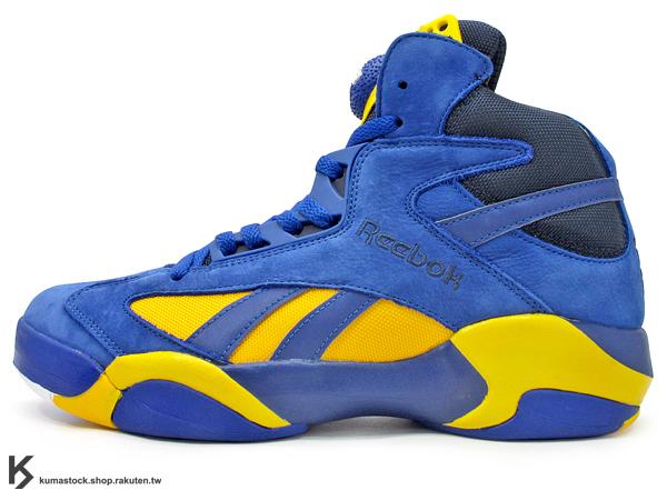 [54%OFF] 2014 世界限量發售 美國紐約鞋舖 PACKER SHOES x REEBOK SHAQ ATTAQ BLUE CHIP 一代 藍黃 麂皮 PUMP 鞋舌充氣 碳纖維 魔術隊 32 經典重新再現 1992 Shaquille O'Neal 簽名球鞋 (V61571) !