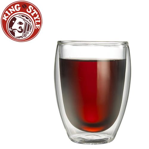 金時代書香咖啡 Tiamo 雙層玻璃杯 360cc 2入