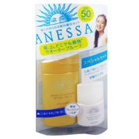 2010年全新資生堂 ANESSA (安耐曬) 『防水.防汗.防護隔離霜』限量版-金瓶60ml+臉部專用12ml