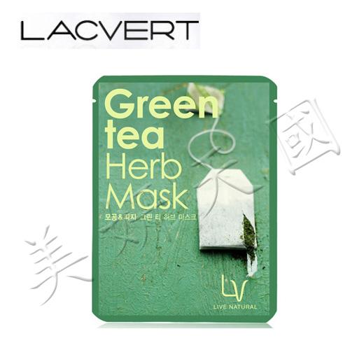 韓國原裝 ~LG化妝品 LACVERT『自然主義-綠茶保濕精華液面膜』