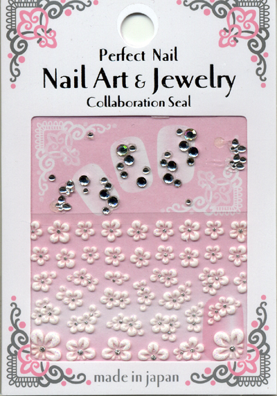 日本製  3D 水晶立體指甲貼紙 / RSS-13『 3D Rubber Art Jewelry Stones 』 造型貼紙/手機造型貼紙
