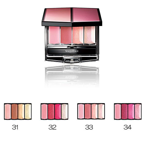資生堂 美人心機(Maquillage) 『粧酷唇彩盤』 34號-玫瑰色系