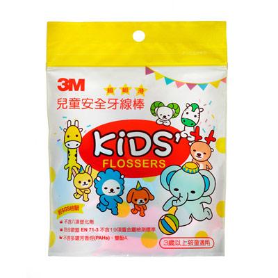 【淘氣寶寶】3M 兒童安全牙線棒-袋裝 (38支入)