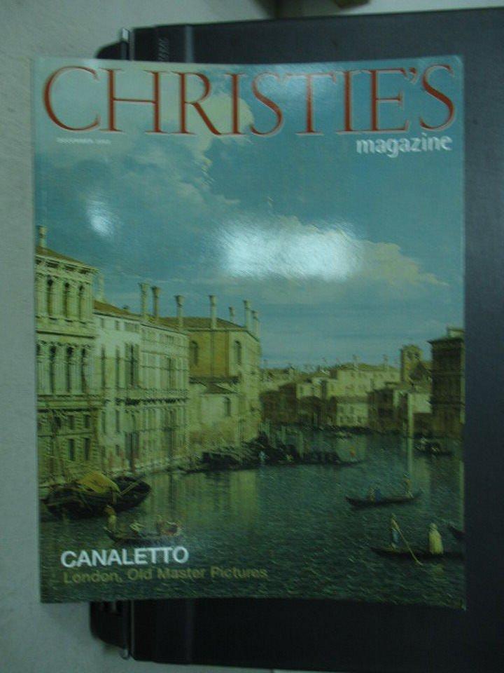 【書寶二手書T2/收藏_YHU】CHRISTIE'S_CANALETTO London..._2003/12