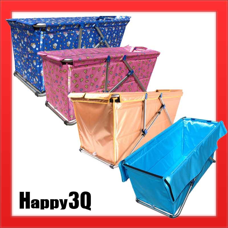 泡澡不鏽鋼保暖浴缸加厚可折疊收納免充氣-金/綠/藍/橘/粉/淺藍【AAA0951】