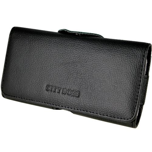 真皮系列 HTC One M8 腰夾式/穿帶式 橫式手機皮套