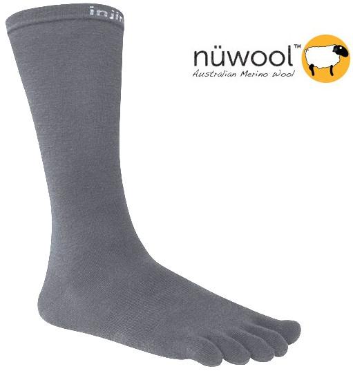 [ Injinji ] 五指襪/登山內襪/戶外羊毛五趾中筒襪/健行/五趾襪 Performance Liner NuWool 深灰